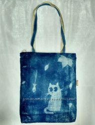Эко сумка на молнии с подкладкой
