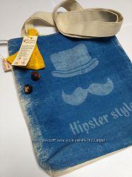 Эко сумка на молнии с подкладкой Хипстер