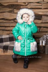 Зимнее пальто для девочки на овчине