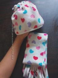 шапка шарф комплект на девочку
