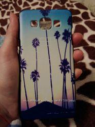 Чехол бампер накладка на Samsung A5  пальмы