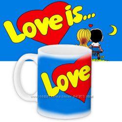 Кружки и чашки для чая, кофе, ирландского кофе love is
