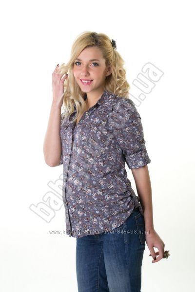 Блузка рубашка для беременных, разные модели