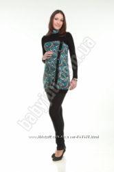 Платье туника теплое для беременных