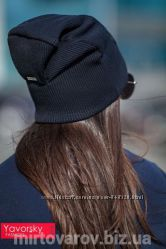 Женская шапка с тиснением. 165. Несколько расцветок.