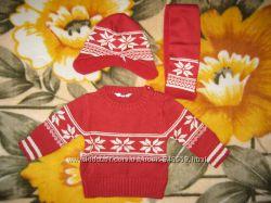 Шапка шарф свитерок на малыша Tchibo - 74-80.