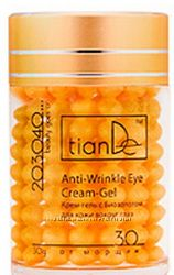 Крем-гель с биозолотом для кожи вокруг глаз от морщин  TianDe