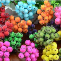 Ягодки калины с инеем. Большой выбор цветов