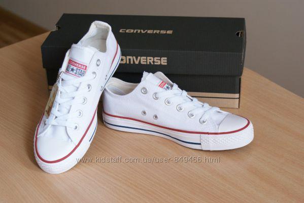 Белые низкие кеды Converse 9cee5797ac0e8