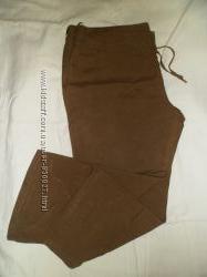 брюки лен цвет хаки бедра  до 105