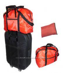 Сумка дорожная недорого, складная, крепится на чемодане
