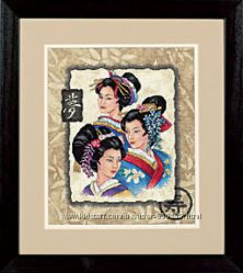 Набор для вышивки Dimensions Three Geishas