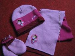 набор, комплект на девочку, шапка, шапочка