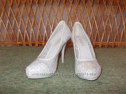 туфли  свадебные 37р.