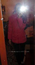 Куртка яркая розовая зима