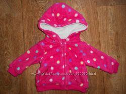 Теплая прикольная кофта меховушка M&Co baby на девочку 3-6мес. 62-68см.