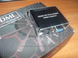 Конвертер HDMI вход - VGA  Toslink SPDIF  audio аналого-цифровой АЦП п