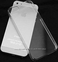 Ультратонкая накладка для iPhone 5 прозрачная пластик