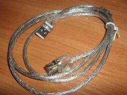 Кабель USB удлинитель 1, 3 м мама-папа