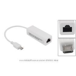 Сетевая карта внешняя micro USB Ethernet RJ45