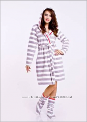 Теплый женский халат два цвета С М Л ХЛ