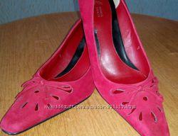 Туфли женские замшевые Красные