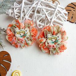 Бантики резинки для волос банты с цветами бант с феями феи феї