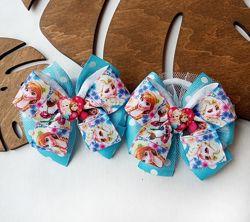Бантики резинки с принцессами Анной и Эльзой Холодное сердце Frozen