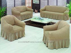 Чехлы на кресла и диваны.  Хлопок - жатка. Турция