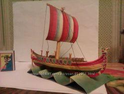 Корабли древнего мира из бумаги