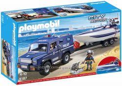 Playmobil 5187 Полицейский джип и катер с мотором