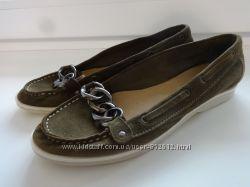 Замшеві туфельки-мокасіни Gabor 21см