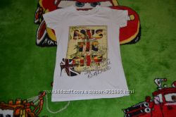 Классная футболка с британским флагом в отличном состоянииРаспродажа