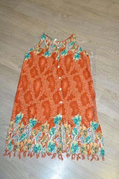 Легкий натуральный халат для беременных кормящих. Распродажа