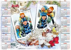 Печать плакатов календарей с Вашими фото