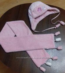 Зимний комплект для девочки шапкашарф