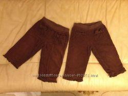 Вельветовые штанишки на подкладке Coolclub 80 размера можно для двойни