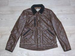 Крутая куртка стеганка River Island кожзам