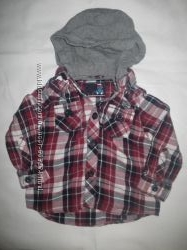 Сорочка з капюшоном на хлопчика 1-1, 5 роки.  TU 100 cotton , Ріст 80-86 см