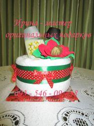 Оригинальные подарки торт из памперсов, торт из полотенец КИЕВ