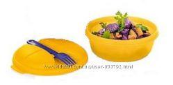 Чаша Снек с вилкой 600 мл Tupperware в ярко-желтом цвете