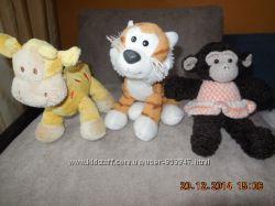 Жираф, обезьянка, тигренок, Умка, Нюша в отл. сост. 16-24 см