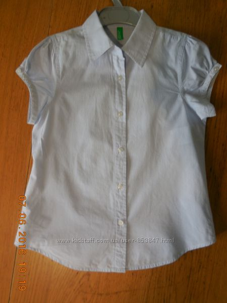 Benetton Блузки, рубашки в школу на 7-9 лет