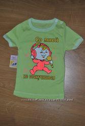 Новая футболочка на девочку с интересной надписью