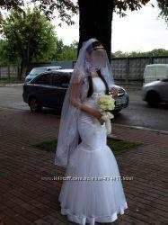 Продам свадебное платье 44-46размера.