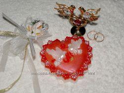 Мыло сердце Свадебные голуби, сердечки