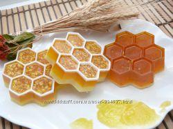 Медовые с овсянкой, с натуральной мочалкой -люфой