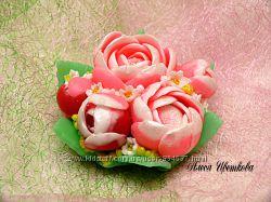 Мыло Букет пионов, Тюльпаны, Каллы, цветы