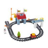 Железная дорога Fisher Price для малышей 3-5 лет 23 элемента