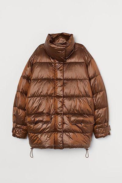 Куртка h&m р. L теплая деми большемерит